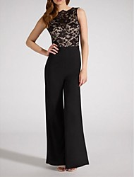 Women's Lace Backless Jumpsuit
