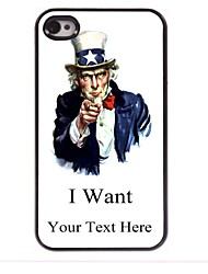 Personalized Gift I Want Design Metal Case for iPhone 4/4S