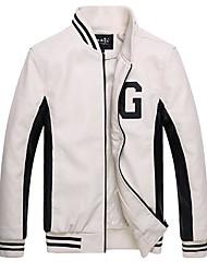 moda jaqueta de couro fino engrossado uniforme de beisebol pele masculina dos homens