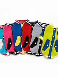 Baseball Jacket Clothes For Dogs Pets(Assorted Sizes,Colors)