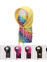 Outdoor Warm Ski Scratch Velvet Windproof Capes Multifunctional Hooded Scarf(Random Color)