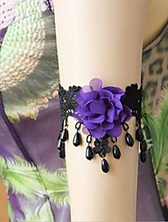 Handmade Back-to-ancients Palace Black Lace Classic & Traditional Lolita Armlet
