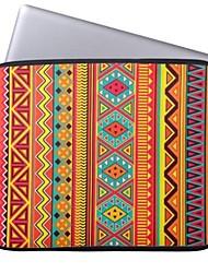 "elonbo boêmio bela faixa 15 ""neoprene laptop caso capa protetora para macbook pro retina dell hp acer"