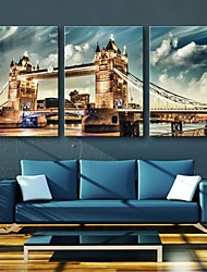 Stretched Canvas Art London Bridge Set of 3
