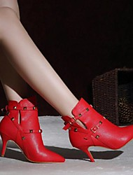 Women's Shoes Pointed Toe Stiletto Heel  Ankle Boots with Rivet More Colors available