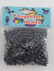 Approx 500PCS/Bag 5MM Gray Perler Beads Fuse Beads Hama Beads DIY Jigsaw EVA Material Safty for Kids