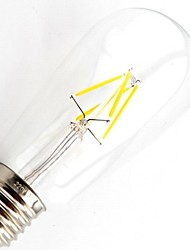 ON E26/E27 4.5 W 4 COB 400 LM Warm White T Dimmable/Decorative LED Filament Lamps AC 220-240 V