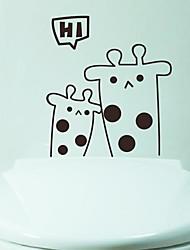 Cartoon Giraffe Toilet Sticker