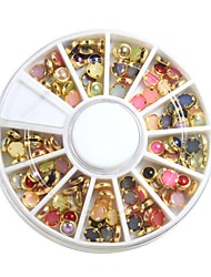Colorful Pearl Gold Metal Lipping Nail Art Decorations