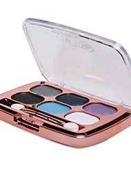 Pro 6 Color Shining Warm Earth Eyeshadow Cosmetic Makeup Palette with Eye Brush(6Styles 36Color)