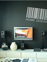 zooyoo® colorido estilo de código de barras extraíbles pvc lindo de pegatinas etiquetas de la pared vendedora caliente para la decoración