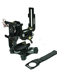 2-Axis Brushless Camera Carbon Fiber Gimbal Mount Rack Assembly FPV PTZ for Gopro Hero 3 DJI Phantom No Controller Board