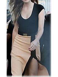 VERYM Women's Short Sleeve Side Slit Dresses