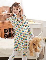 Maternity's Fashion Comfortable Color Smiling Face Pajamas Clothing Set
