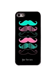Personalized Gift Cool Mustache Design Metal Case for iPhone 5/5S