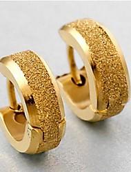 personalidade dos homens moer ouro arenosos brincos de aço titânio