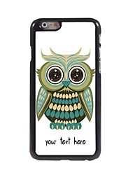 Personalized Case Lovely Owl Design Metal Case for iPhone 6 Plus