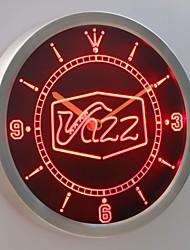 nc0321 bar jazz saxophone club de musique de pub en direct enseigne au néon conduit horloge murale
