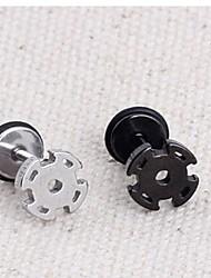 molinillo de viento de la moda (y vuelta) pendiente del perno prisionero de acero de titanio (negro, plata) (1 pc)