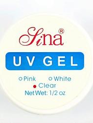 Clear Transparent Nail Art UV Gel Top Coat Base Gel Builder Nail Polish for Acrylic UV Nail Tips Art