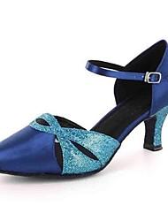 Латинской женские сандалии настроены пятку с Баки танцевальной обуви (больше цветов)