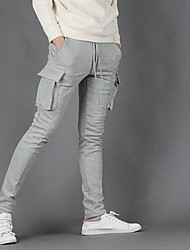 Men's Korean Style Leisure Trousers Of Tooling  Chinos Pants