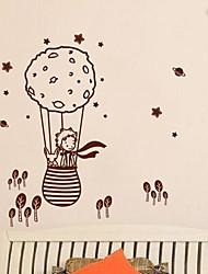 stickers muraux autocollants de mur, moderne, le petit prince et le renard dans un ballon pvc stickers muraux