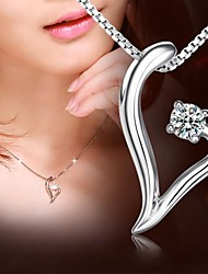 Personalized Gift 925 Silver Heart Shape Pendant Necklace LIWUYOU™