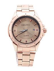 lujo v6 ORKINA deporte de acero inoxidable dorado waterpoof hombres reloj de pulsera orn0214