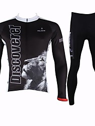 ILPALADINO Cycling Jersey with Tights Men's Long Sleeve Bike Breathable Quick Dry Jersey + Pants/Jersey+Tights Clothing Sets/Suits100%