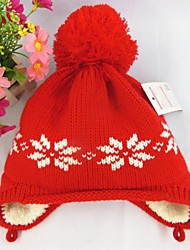 Kid's Fashion Joker Lovely Warm Snow Woolen Hat