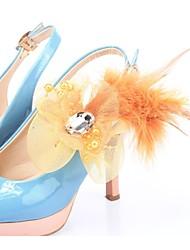 decoração de flores de pano acentos para sapatos -set de 6 (mais cores)