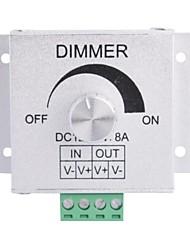 Aluminum Alloy 8A 1-Channel Rotary Dimmer for LED Strip Lamp  (DC 12V-24V)