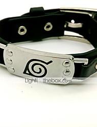 Jóias Inspirado por Naruto Fantasias Anime Acessórios de Cosplay Braceletes Preto Liga / Pele PU Masculino