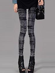 Women's Fashion Show Thin Crossing Design Imitation Cowboy Leggings