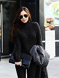 женская мода половины водолазка выдалбливают свитер