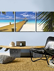 Personalized Canvas Print The Beach 30x30cm  40x40cm  60x60cm  Framed Canvas Painting Set of 3