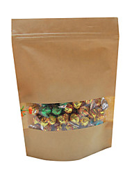 Visible Brown Paper Autosealing Favor Bags-Set Of 5