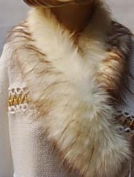 mantones de la piel de pelo pesado collar de imitación de moda de las mujeres de la bufanda
