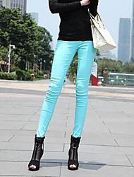 aibeina pantalones flacos de la alta cintura de las mujeres
