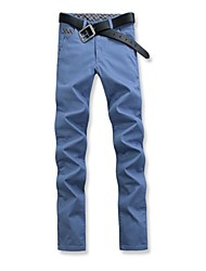Men's 2014 New Fashion High-rise Zipper Fly Combined Body Casual Long Chinos