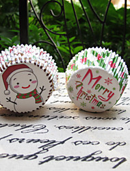 Merry Chrismas Cupcake Wrappers(2 Patterns)-Set of 50