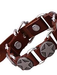 Lureme® - Legering/Leder - Lederen armbanden - Armbanden - voor Feest/Dagelijks/Causaal/Sport - #