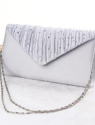 Women Bags All Seasons Silk Evening Bag with for Event/Party Gold Black Silver Beige