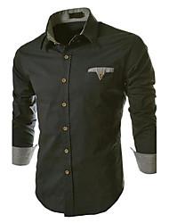 Men's Plaid Cuff Casual Long Sleeve Shirt