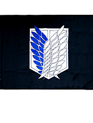 Cosplay Accessories Inspired by Attack on Titan Cosplay Anime Cosplay Accessories Flag Black Terylene Male / Female
