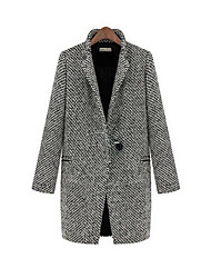 Lavender Women's Thick Wool Coat