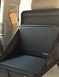 Black Portable Car Seat Back Computer Tray Desk Table