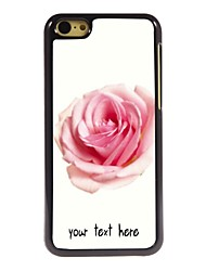 personlig sak rose designe metall tilfelle for iphone 5c