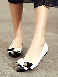 Women's Shoes Pointed Toe Flat Heel Leather Flats with Bowknot Shoes